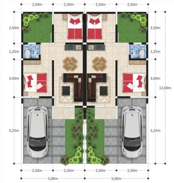 rumah syariah cikarang bekasi ar-radea residence - layout